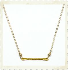 Brooklyn Designs Casey Bar Necklace, perfect for layering.