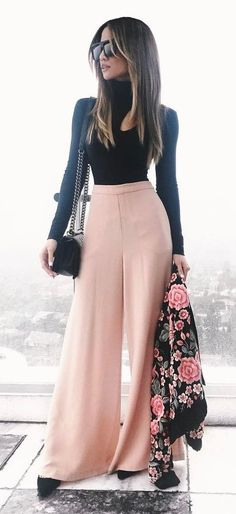 fashion trend inspiration black top + pants