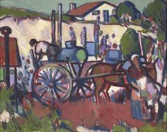 Provenance:Margaret MorrisGeorge SmithDuncan Miller Fine Arts, LondonPrivate Collection, LondonExhibited:Probably Glasgow, Annan Gallery, John Duncan Fergusson: Paintings 1898-1957, 7 May - 1 June 1957, cat. no.10Glasgow, Hunterian Art Gallery and Museum (lent by George Smith during the 1980s) Between 1909 and 1911 Fergusson made several visits to Royan and nearby Saintonge, on the West coast of France, often accompanied by Peploe and Anne Estelle Rice. In 1909 Fergusson was elected a…