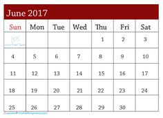 32 best June 2017 Calendar images | Calendar templates