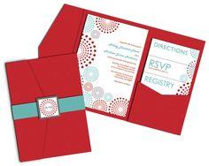 Dots Wedding Invitation Pocketfold By ImpressInk On Etsy 5000