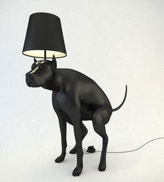 This is hilarious.  If It's Hip, It's Here: Defecating Dogs Brighten Up A Room. Pooping Dog Lamps By Whatshisname.
