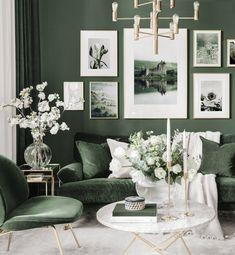 Room Color Schemes, Room Colors, Room Decor Bedroom, Living Room Decor, Inspiration Wand, Living Room Green, Living Room Designs, Interior Design, John Ruskin