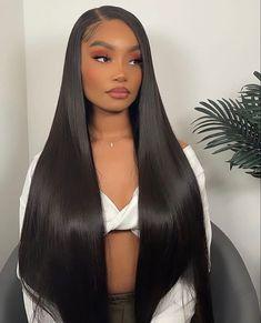 Baddie Hairstyles, Weave Hairstyles, Pretty Hairstyles, Straight Hairstyles, Curly Hair Styles, Natural Hair Styles, Hair Laid, Aesthetic Hair, Face Hair