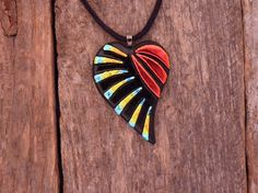 Handmade  Original Dichroic Fused Glass Rainbow by PureLightStudio,
