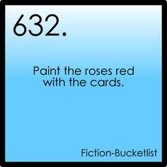 My Fiction Bucket List- alice in Wonderland