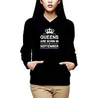 Yaya Cafe Queens Are Born In September Women Birthday Sweatshirt