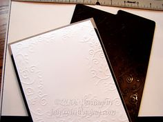 Selective embossing with Sizzix Texturz plates.  I knew there had to be a way to make it work!