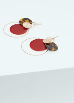 Mixed pendant earrings -  Women | MANGO USA