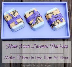 I just love this EASY recipe to make homemade bar soap!  I made 2 batches (24 bars) that I'm going to use as Christmas gifts this year!  They look and smell lov…