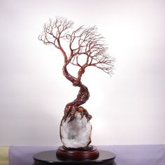 Home of Contentment Wire Tree sculpture Tree Of by CrowsFeathers, sold