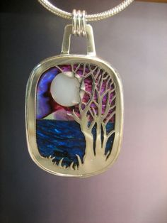 One of a KInd Sterling Silver Landscape Pendant Wow! I want one of his pieces.  They're all gorgeous.
