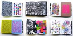 Augenflimmern garantiert: das »organic book« von Nicole und Petra Kapitza präsentiert 200 Muster-Artworks.