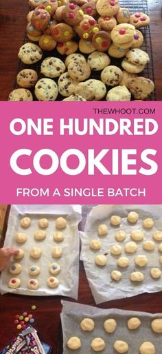 100 Cookies From One Single Batch Only 4 Ingredients - Recipes - Dessert Bulk Cookie Recipe, 100 Cookies Recipe, Easy Cookie Recipes, Sweet Recipes, Baking Recipes, Dessert Recipes, Easy Biscuit Recipe, No Bake Recipes, Lamb Recipes
