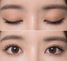 work eye makeup natural / eye makeup for work natural . easy eye makeup for work natural looks . Makeup Korean Style, Korean Eye Makeup, Korea Makeup, Chinese Makeup, Japanese Makeup, Make Up Looks, Korean Makeup Tutorials, Ulzzang Makeup Tutorial, Eyeshadow Tutorials