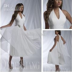 Wholesale 2013 Wedding - Buy 2013 New Arrival Hot Sale Sexy Bridal Dresses Halter Sleeveless A-line Pleat Tea Length Wedding Dresses Womens Weddings Beach Wedding Gowns, $79.0 | DHgate