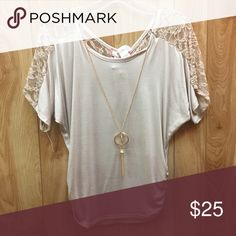 NWT lace detail blouse NWT Tops Blouses
