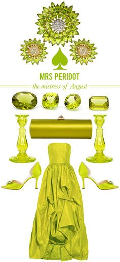 Pretty Peridot! Celebrate your August Birthday in style with this gem.