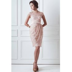 Chrissy Dress in Satin Nude