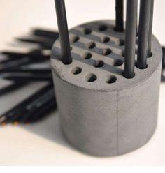 DIY Cement Pencil Holders : DIY Pencil Holder