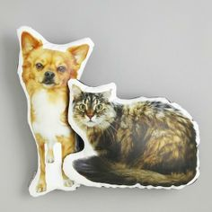 Custom Printed Pet Photo Pillow by intheseam