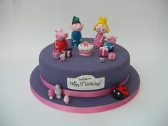 Ben and Holly & Peppa Pig Cake Cute Birthday Cakes, Girl Birthday, Ben And Holly Cake, Childrens Party, Party Snacks, Party Cakes, Cake Decorating, Peppa Pig, Baking