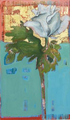 Anne Salas -- saw a few of her pieces in Chatham, I love them! Oil paintings on gold leaf White Anemone, White Tulips, Blue Bouquet, Spring Bouquet, Red Peonies, Pink Flowers, White Hibiscus, White Gardens, Asian Design