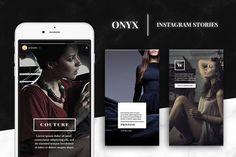 Onyx - Instagram Story Templates by Tugcu Design Co. on @creativemarket