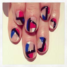 Mix color block nails #avarice #art #design #kayo #nails #nailart #color #block #mix (NailSalon AVARICE)