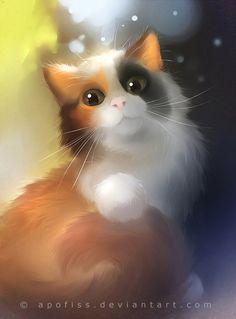 trendy Ideas for wallpaper cute cat art Pet Anime, Anime Animals, Cute Animals, Anime Art, Warrior Cats, Animal Paintings, Animal Drawings, Art Kawaii, Image Chat