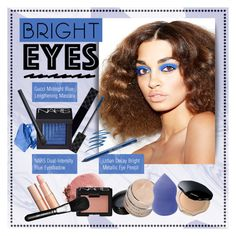 """Bright Eyes: Electric Blue"" by ealkhaldi ❤ liked on Polyvore featuring beauty, Charlotte Tilbury, Shiseido, Gucci, NARS Cosmetics, Urban Decay, contest, electricblue and brighteyes"