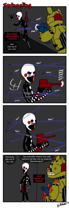 "Springaling 165: Crapshoot by negaduck9 on DeviantArt |  haha ""Are you an Imperial Storm Trooper?""  Good one Puppet."