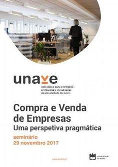 29 NOVEMBRO | 14H30 | UNAVE-UA | SEMINÁRIO COMPRA E VENDA DE EMPRESAS