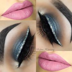 Glitter Liner Eye Makeup Idea for New Years Eve