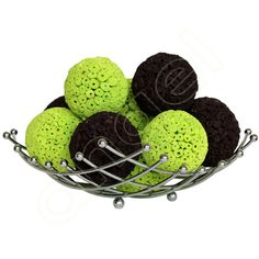Lime Splice and Chocolate Large Decorative Balls by Angel Aromatics I Available at http://www.angelaromatics.com.au/scented-bowl-decorations/lime-splice-decorative-balls-for-tables http://www.angelaromatics.com.au/scented-bowl-decorations/chocolate-large-decorative-balls