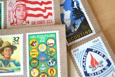 Girl Scouting Stationery Postage Stamped Stationery.  Super Summer Camp Mailing Kit!