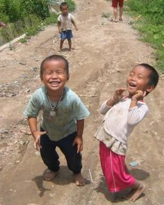 little kids laughing...so cute