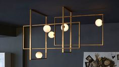 MONDRIAN GLASS CEILING LAMP by VENICEM available at Haute Living