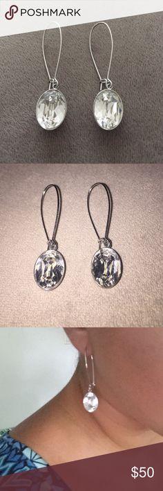 Swarovski Earrings Swarovski Earrings. Dangling stone earrings. Worn a few times. Excellent condition. Easy closure clasp. 100% authentic. Swarovski Jewelry Earrings
