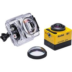 Kodak SP360 with Extreme Accessory Pack 16 MP Camera with 1x Optical Image Stabilized Zoom with 1-Inch LCD (Yellow)
