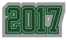 Connected Year Graduation Patch 2017  #chenilleyear #varsityjacket #varsityjackets #jacketpatch #graduationpatch #graduationclass #schoolaward #neffco #grads #2017