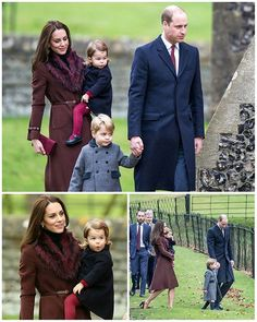 #NEWS #NEW #TODAY The Duke and Duchess of Cambridge along with their children Prince George and Princess Charlotte at a Christmas service at Englefield Church in Berkshire. @_duchesskatemiddleton