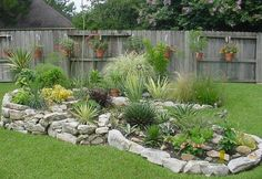 45 Texas Style Front Yard Landscaping Ideas Page 16 of 46 Home Depot Landscaping, Landscaping With Rocks, Front Yard Landscaping, Landscaping Ideas, Landscape Plans, Landscape Design, Garden Design, Texas Gardening, Outdoor Plants