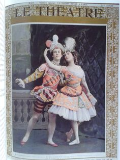 Le Theatre - Le Pavillon d' Armide - Vaslav Nijinsky & Anna Pavlova. An advertisement by Le Theatre of the 1st Season of the Ballet Russes in Paris, 1909. Le Pavillon d'Armide is a ballet in one act and three scenes choreographed by Michel Fokine to music by Nikolai Tcherepnin on a libretto by Alexandre Benois. It was inspired by the novella Omphale by Théophile Gautier.