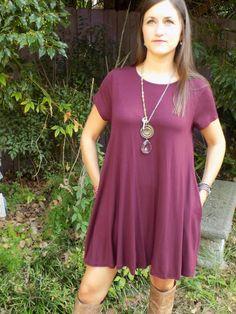 Flying Trapeze Dress {Burgundy}