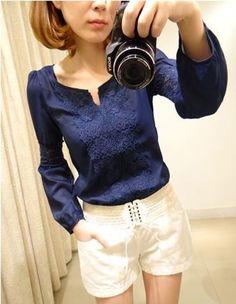 Camisa com Rendas - Comprar em Raylim Modas