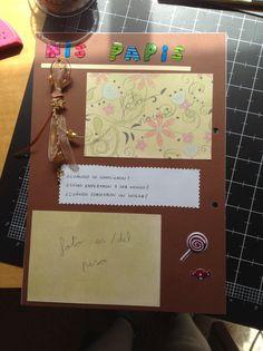 """Página de """"mis papis I"""" para libro del bebé"""