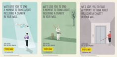 Three posters by illustrator Shout to promote the 2013 Remember a Charity Week 2013. The campaign, by the 140-charity strong Remember a Charity coalition, aims to boost the number of charitable legacies left in Wills. Learn more at www.asce.org/foundation