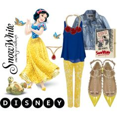 Snow White by kc-spangler on Polyvore featuring Sisters Point, J.Crew, Weekend Max Mara, Valentino, Olympia Le-Tan, Topshop, Gripoix, Disney, yellow and snowwhite