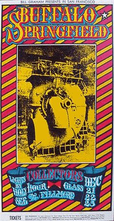 FILLMORE POSTER 1967..This is a BEAUTIFUL poster...yet it's unsigned. Why? This is one of the most unusual of Fillmore posters because of the proportions.  I like this one a lot, and framed, it would be a killer. Great graphic.  I've just received a note from Pedar Ness who has a signed copy of this poster by Kelly...so there you have it! 16